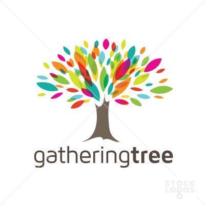 Gathering Tree - rainbow + overlay