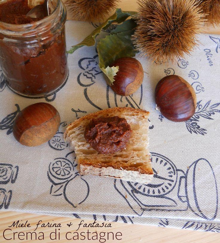 Crema di castagne o marroni fatta in casa per farcire, decorare e arricchire tutte le nostre ricette dolci.