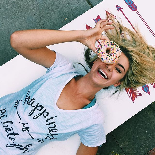 happiness is ΠΒΦ ……. and a donut.