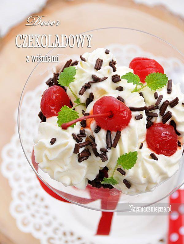 Deser czekoladowy z wiśniami #deser #wiśnie #lato #dessert #najsmaczniejsze
