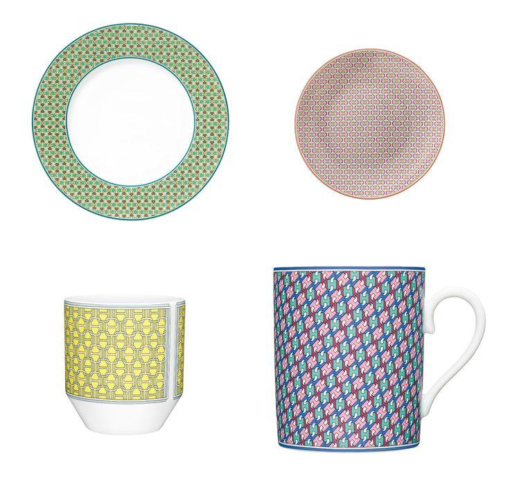 エルメス(Hermes)がこの度、新たなテーブルウェアコレクションを発表する。デザイナーのフィリップ・ムケによるこの「タイ・セット」は、名前のとおりメンズのワードローブであるネクタイのモチーフから着想を得た、ありそうでなかったユニークなコレクションだ。Photos: Carl Kleinerエルメスのイニシャル「H」が曲線やドットと組み合わさり、カラフルでシックな幾何学模様に姿を変え、つややかな磁器を包み込んだこのコレクション。選択肢も実に豊富で、20のデザインと20色のカラーバリエーションからなっており、異なる種類を組み合わせてもしっくりマッチするように作られているあたりは、さすがエルメス。男女を問わず、ギフトとしても最適だ。でも、目移りは避けられないかも!?上段左から:「デザートプレート ミント」(φ21.6cm、¥12,500)、「パンプレート マンダリン」(φ14cm、¥9,400)下段左から:「ゴブレット ハニー」(100ml、¥11,500)、「マグカップ アズュール」(300ml、¥14,500)Photos: Studio des…