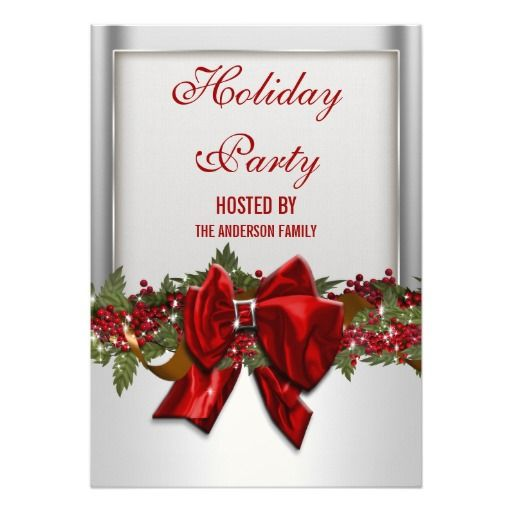275 best christmas party invitations images on pinterest silver red christmas party personalize invites stopboris Image collections