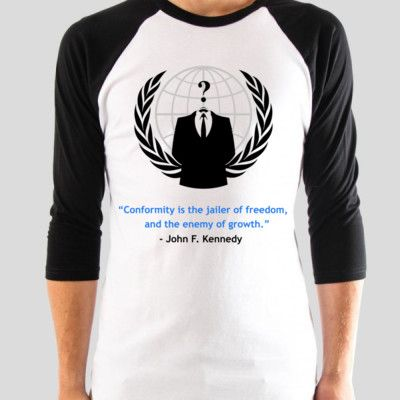 Another great design from Novel Prints. See it at http://novelprints.com/shop/category/Conformity?c=1117837&ctype=0 #tshirt #anon #anonymous