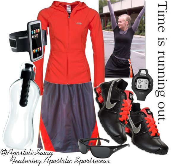 """Actively Modest"" by apostolicswag on Polyvore Go to http://www.apostolicsportwear.com/Welcome.html to purchase amazing exercise skirts!"