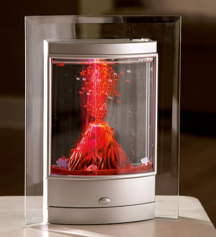 18 best volcano red led bubble fish tank images on for Fish tank volcano