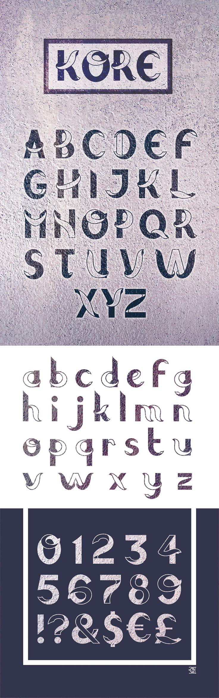 """Création de la typographie de titrage """"KORE"""""""