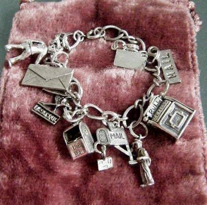 Gone Postal....Postal theme charm bracelet