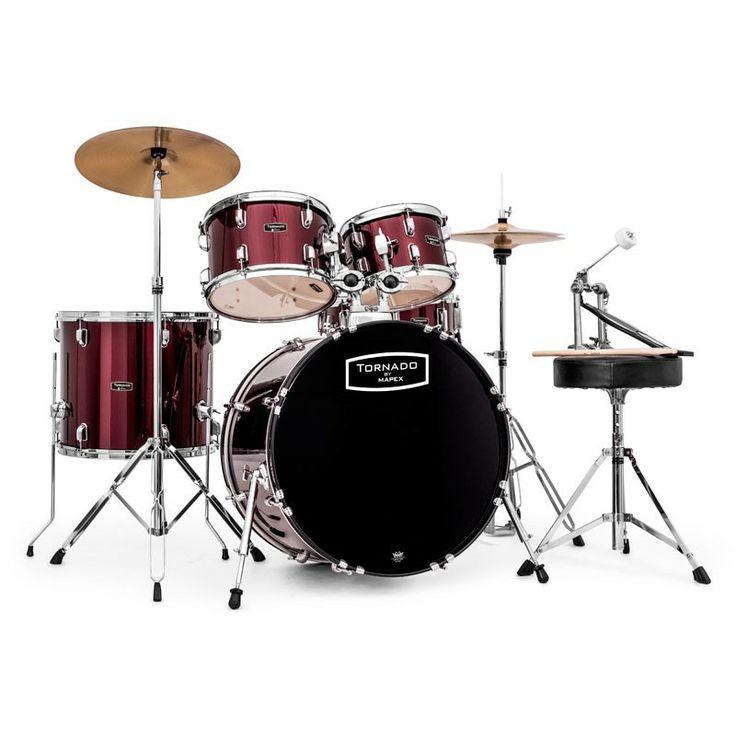 Mapex Tornado 22-Inch LA Fusion Drum Kit, Dark Red. #mapex #drumkit