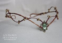 Couronne de fée de Woodland elf diadème  casque elfique par Ayalga