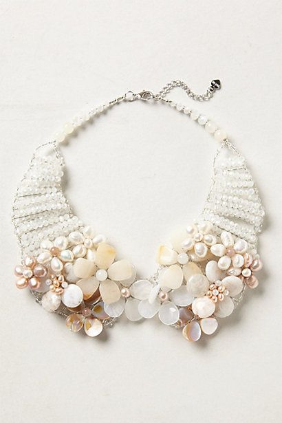 Pearled Bouquet Collar Necklace #anthropologie