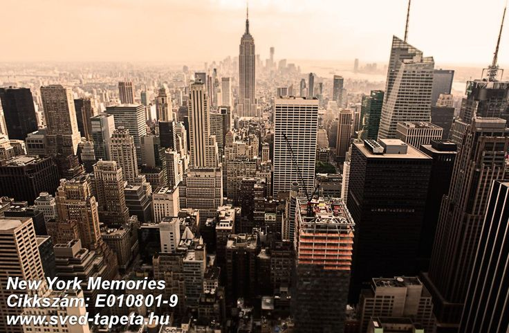 ☞ View of Manhattan from Rockefeller Center, a classic vista. #midtown #big #apple #wall #decor #tapeta #foto #poster