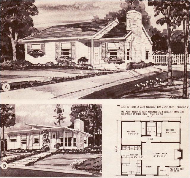 82 best Mid Century Home Style.com images on Pinterest   Floor plans ...