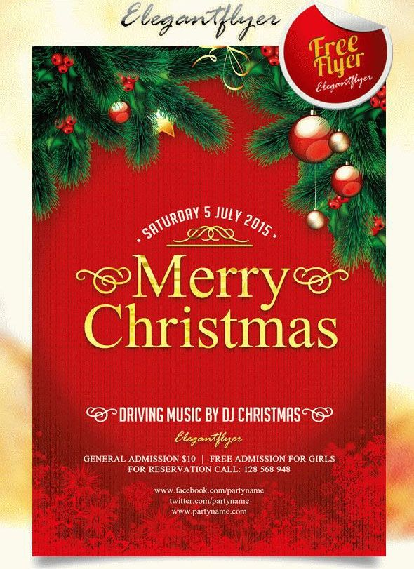 Free Downloadable Christmas Flyer Templates Free Christmas Flyer Templates Christmas Card Template Holiday Flyer Template