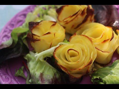 Cómo hacer rosas de patata al horno - YouTube