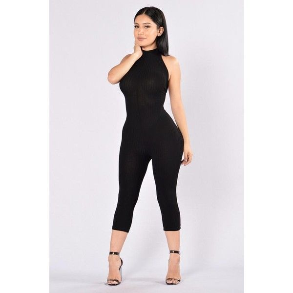 Rompers Jumpsuits ($25) ❤ liked on Polyvore featuring jumpsuits, playsuit romper, black and white jumpsuit, romper jumpsuit, jump suit and playsuit jumpsuit
