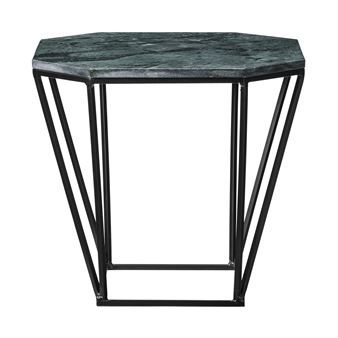 Bloomingville table with marble top - black with green marble top - Bloomingville