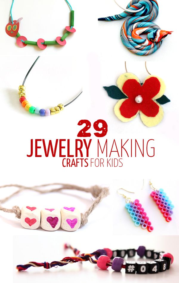 29 fun jewelry crafts for kids of all ages - including preschool, grade school, teen and tween! Various media are included in these fun kid beading and jewelry making crafts.