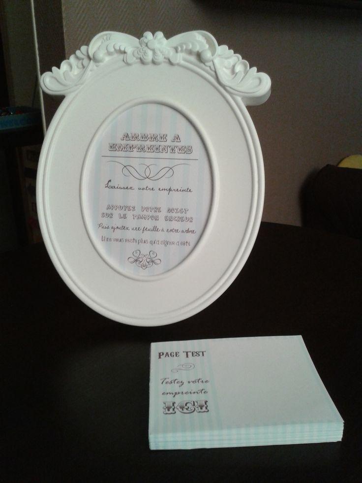 Arbre à empreintes (cadre IKEA) | Notre mariage ... - Cadre 40X60 Ikea