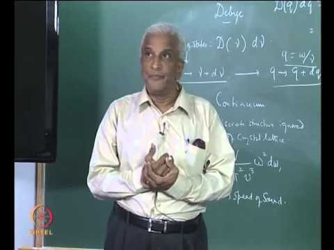 Mod-01 Lec-13 Debye Theory of Specific Heat, Lattice Vibrations - YouTube