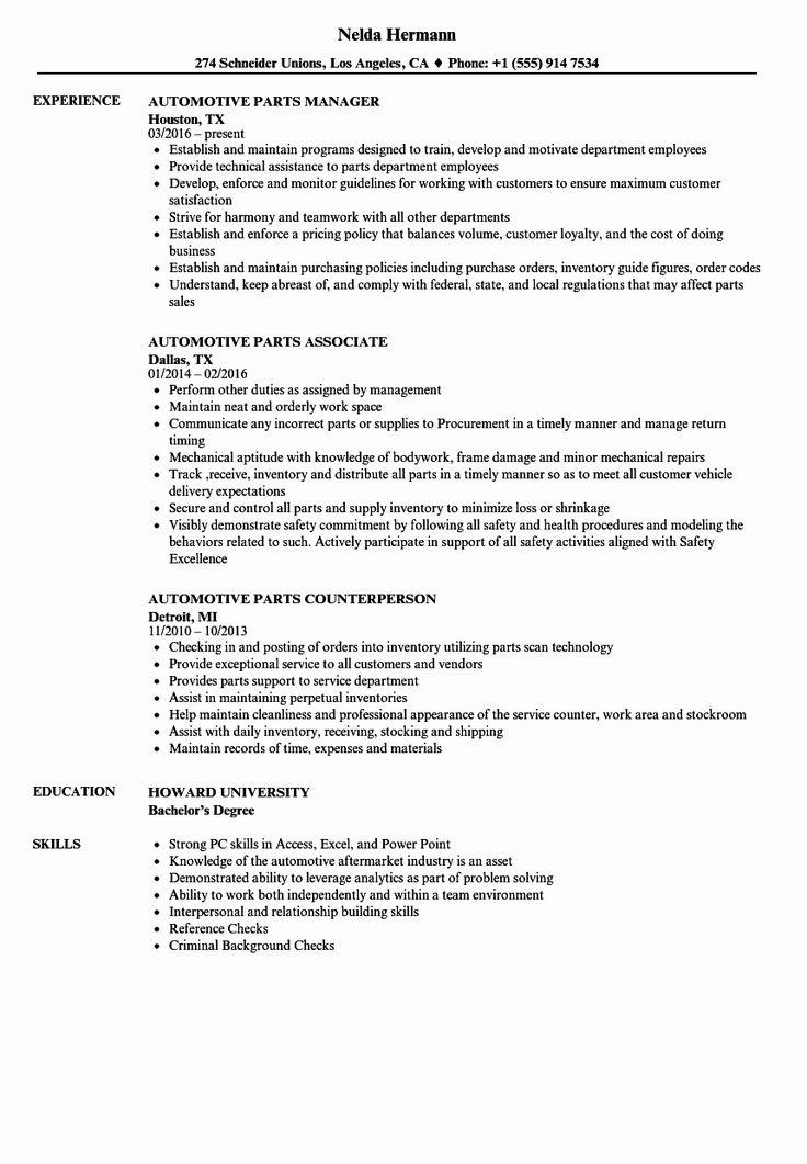 √ 20 automotive service advisor resume in 2020  service