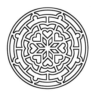 Mandalas Para Pintar: Mandala rosetón