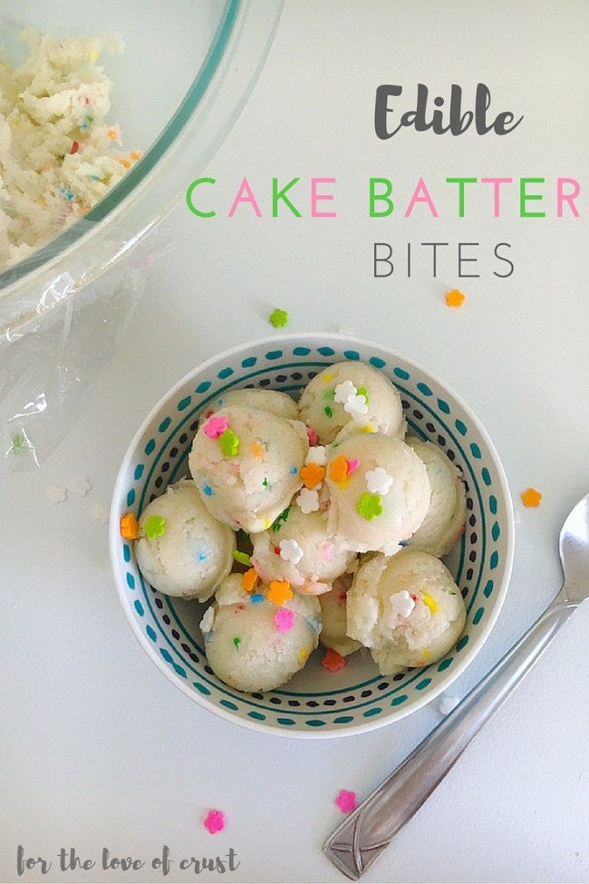 Edible Cake Batter Balls in 5 Minutes - For the Love of Crust