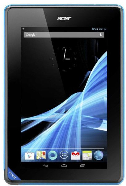 """Acer Iconia B1 Series NT.L1WEE.004 B1-711-83891G01nw BlackTablet, MediaTek MTK 8389W 1.2 GHz Quad-Core Processor, 1024MB LPDDR3 Low PowerMemory, Supports 1GB Max Mem, 16GB eMMC Multimedia Card Storage, NO opticaldrive ( No CD), 7"""" Capacitive Multi Touch Screen WSVGA (1024 x 600resolution) Glossy Type LED Backlit Display, Intergrated GPU on CPU,802.11b/g/n Wireless Lan, Bluetooth,Built in 3G, Webcam, Micro USB port, MicroSD card Reader, Built in GPS, 0.4 kg,"""