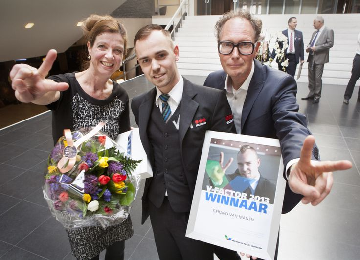 Gerard is de winnaar van de V-factor (april 2014)