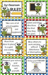 Frog Theme Classroom Rules | frog-themed classroom rules
