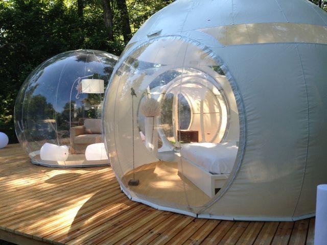 Nuit insolite dans une bulle transparente - Week-end en amoureux