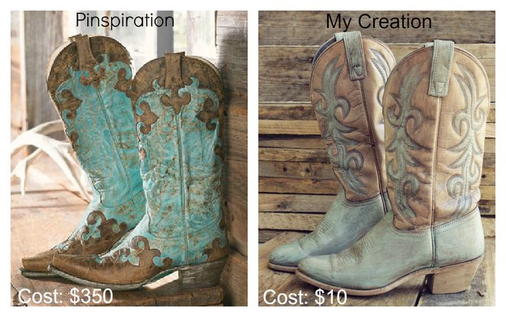 Have a pair of Blah cowboy boots? DIY Rustic Turquoise Cowboy Boots.  This could be fun.