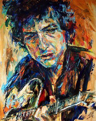 Natasha Mylius 'Bob Dylan' | Painting Acrylic Artwork | Portrait Art For Sale