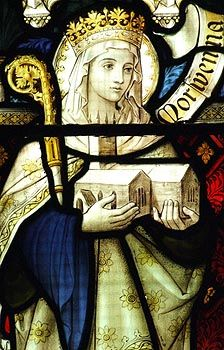 2014 will be the year I travel from the Brecon Beacons to Morwenstow. My own pilgrimage. Detail--St. Morwenna window at Morwenstow church