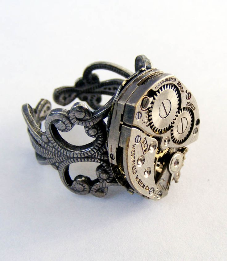 cool ring: Fashion, Steampunk Stuff, Style, Watch, Adjustable Ring, Steam Punk, Jewelry, Steampunk Rings