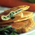 Omelette di ceci con spinaci e besciamella