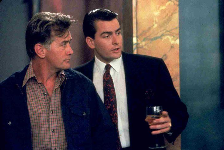 Pin for Later: Actor Parents Who Have Shared the Big Screen With Their Kids Martin and Charlie Sheen The 1987 classic Wall Street gave Charlie Sheen a memorably '80s role, but do you remember that dad Martin played his dad in it, too?