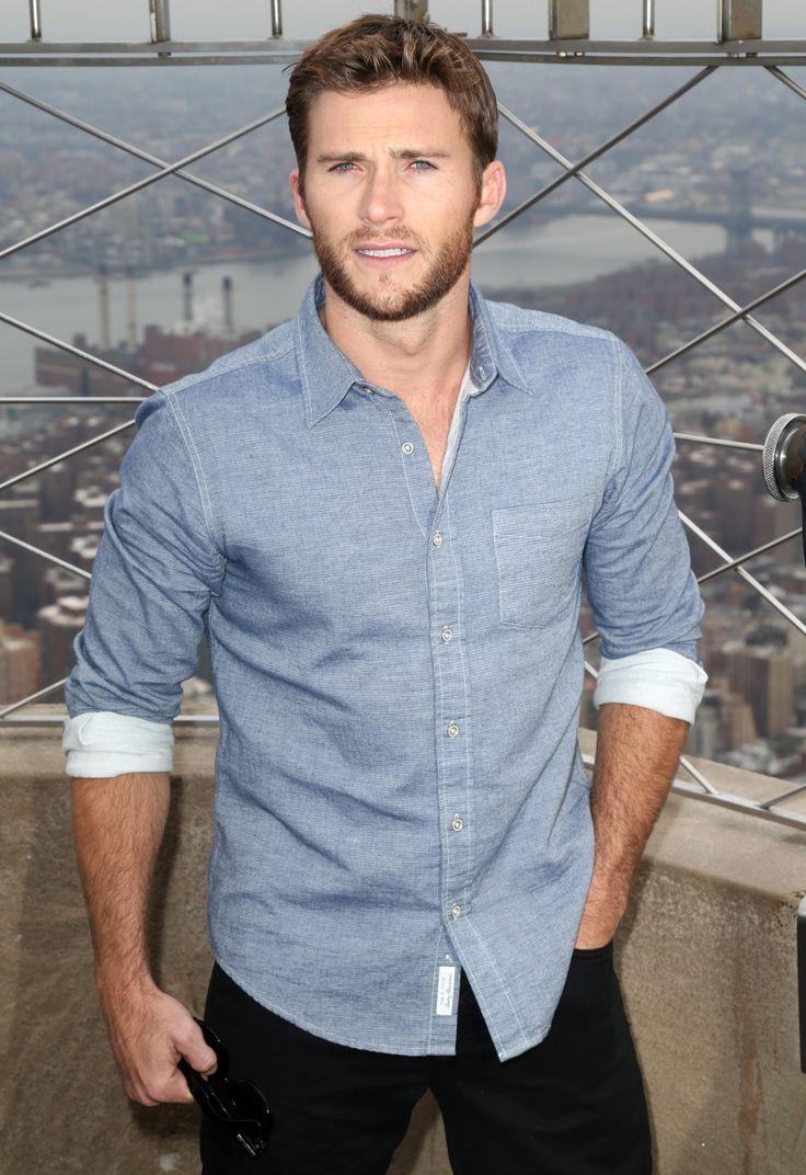 Scott in blue shirt