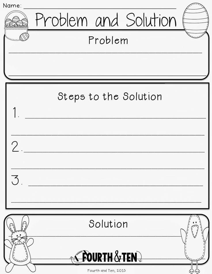 Problem and solution essay graphic organizer