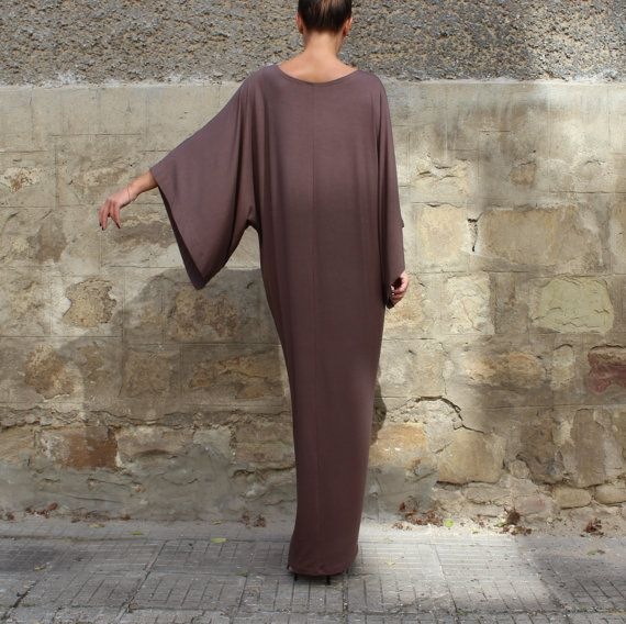Brown Maxi Dress Caftan Abaya Plus size door cherryblossomsdress
