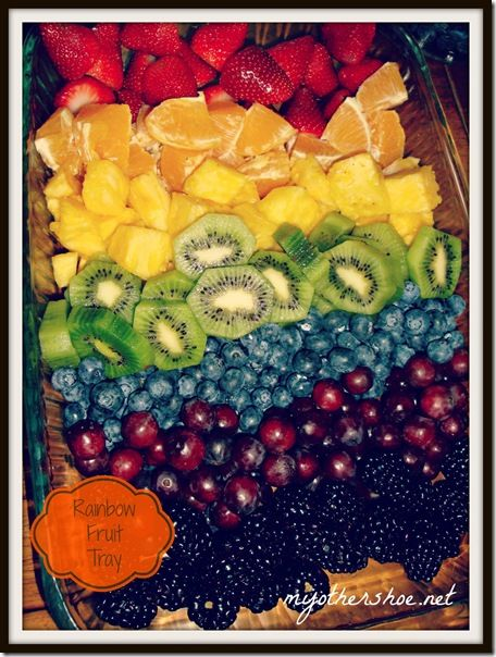 Rainbow Fruit Tray. Making my mouth water