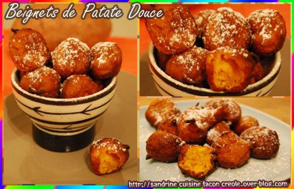 En cette période de carnaval, laissez vous tenter par de bons beignets de patate douce! Ingrédient pour 40 beignets 100g de farine 300 de patate douce 1 oeuf 60ml de lait 1 grosse càs de lait concentré sucré 1 càs de sucre de canne 1 càc de rhum 2 gouttes...