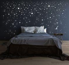 Kinderzimmerdekoration - 708 Stk Leuchtsterne Sterne fluoreszierend M1228 - ein Designerstück von IlkaParey bei DaWanda