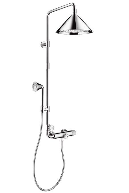 Hansgrohe Axor Shower with Thermostatic Mixer and Overhead Shower
