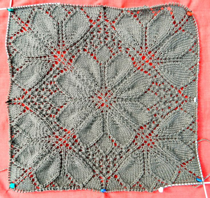 Knitting+Projects | by the time you see this this piece of lace will have been re knitted ...