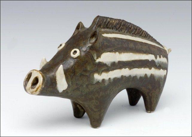Taisto Kaasinen (Finnish, 1918–1990) ,      Keramiikkaveistos (A ceramic sculpture)