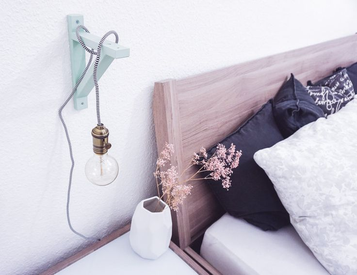Awesome Grooo e Mint Liebe mit DIY Gl hbirnen Lampe f r us Schlafzimmer