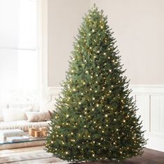 Balsam Hill BH Balsam Fir Premium Prelit Artificial Christmas Tree, 9 Feet, LED Clear Lights.. This Tree is simply beautiful and i would recommend this to everyone. The price for this Tree is: $1,199.00 & FREE Shipping