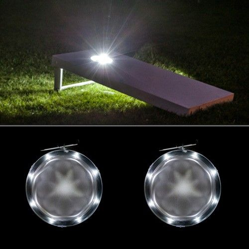 White Cornhole Light Set for your bean bag boards