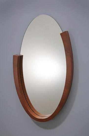 Oval Mirror by Richard Judd: Wood Mirror available at www.artfulhome.com