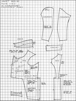 Jacket pattern 1825-1830